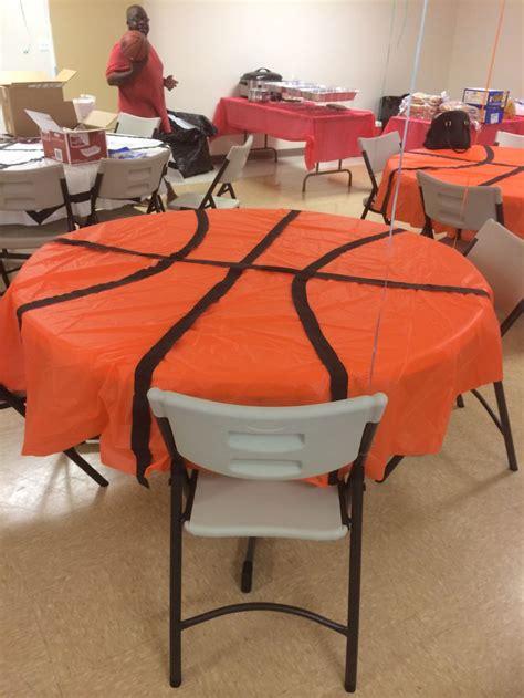 decorations orange circle table cloths  black