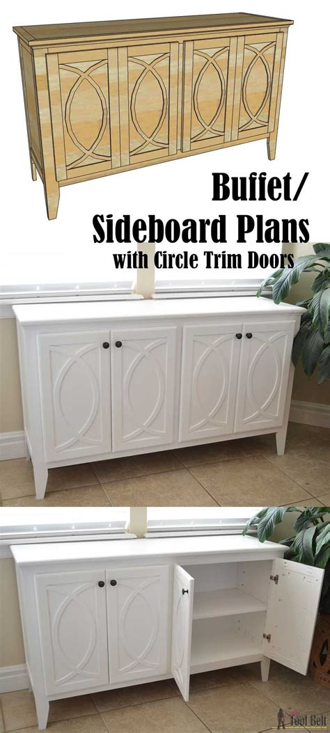 buffet for kitchen storage diy buffet sideboard with circle trim doors buffet 4953
