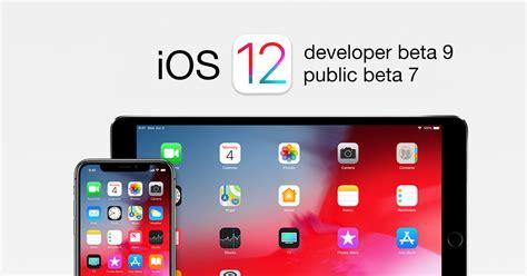apple udostępnia deweloperską ios 12 beta 9 i jej