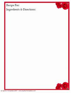 Binder Sized Free Recipe Card Templates