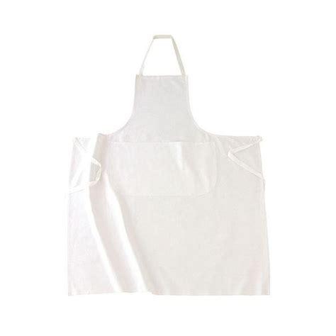tablier blanc de cuisine tablier de cuisine à bavette blanc 100 coton