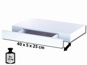 Carlo Milano Wandregal mit versteckter Schublade, 40 x 5 x
