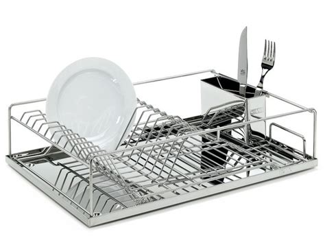 stainless steel dish rack 10 easy pieces countertop dish drainers remodelista