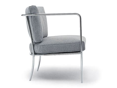 Upholstered Steel Armchair CafÉ Collection By Living
