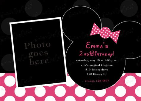 minnie mouse invitation template minnie mouse invitations etsy template best template collection