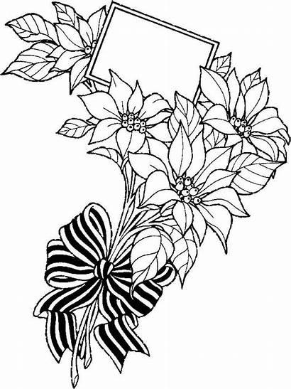 Coloring Flower Pages Bouquet Flowers Clipart Bouquets
