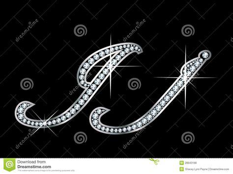 script diamond bling jj letters stock vector illustration  twinkle carat