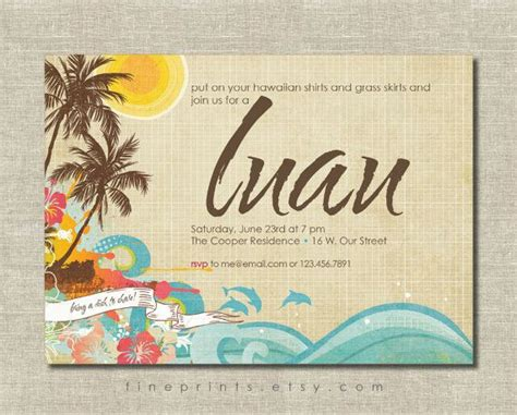 luau invitation tropical summer parties  awesome