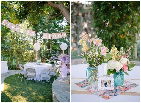 outdoor bridal shower party ideas table decorating ideas