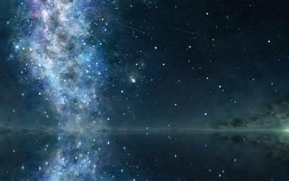 Sky Starry Night Background Stars Star Reflection