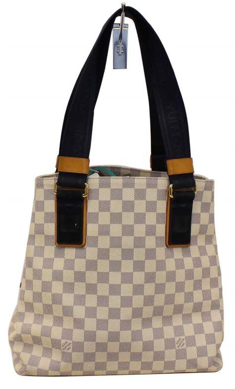 louis vuitton damier azur canvas cabas pm beach bag limited