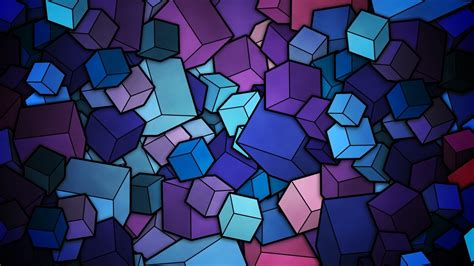 Abstract Wallpaper Cube by Glass Cubes Wallpaper 2643