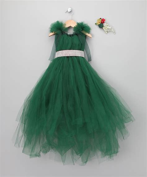 green christmas dress set toddler girls