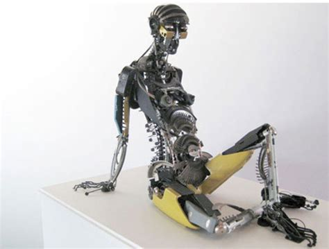Awesome Typewriter Assemblage Sculptures by 40 Terrific Works Of Made From Common Trash Noupe