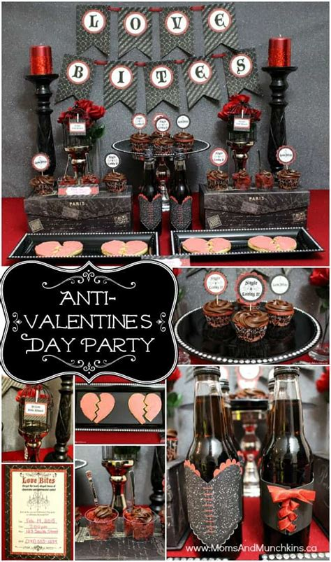 anti valentines day party moms munchkins