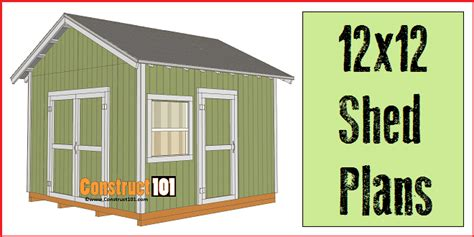 Free Shed Blueprints 12x12 by 12x12 Shed Plans Gable Shed Construct101