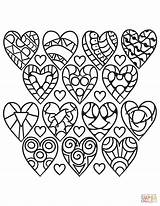 Coloring Hearts Pattern Adults Heart Printable Sheets Rocks Valentine Shape Supercoloring Drawing Categories Abstract sketch template