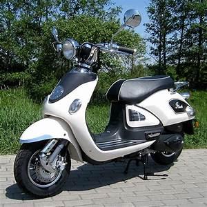 Motorroller Vespa 50ccm : motorroller 50ccm retro roller mit 45 km h flash weiss ~ Jslefanu.com Haus und Dekorationen