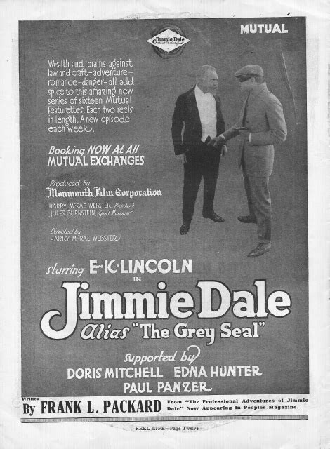 jimmie poster dale alias seriado 1917 seal gray