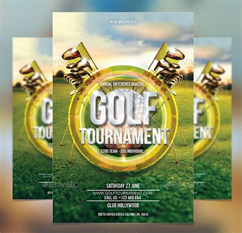golf tournament flyer templates  eps psd ai