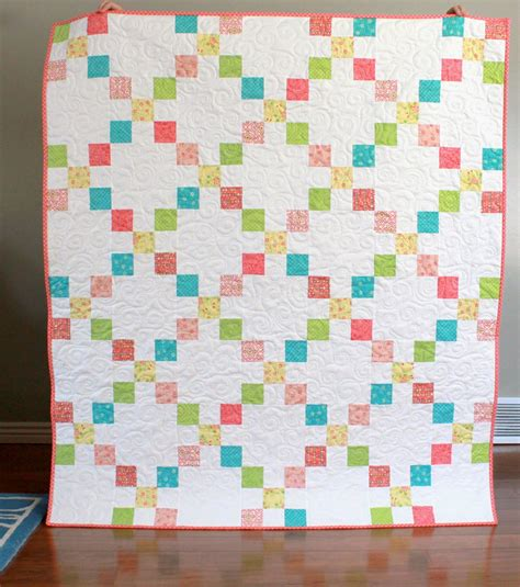 chain quilt pattern a bright corner chance of flowers chain quilt