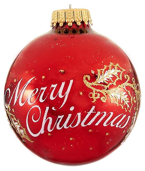 merry christmas red personalized ornament