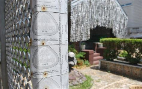 unique house design recycling  beer cans