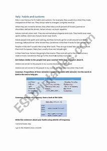 reading habits and customs esl worksheet by