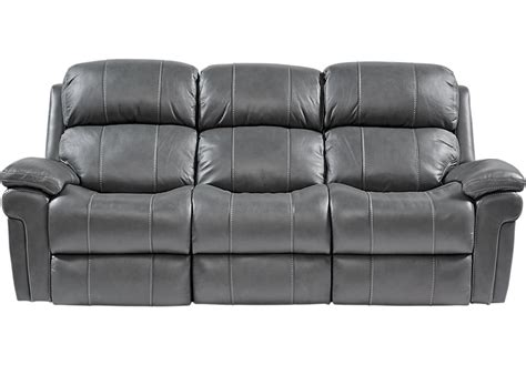 Gray Leather Loveseat by Trevino Smoke Leather Reclining Sofa Sofas Gray
