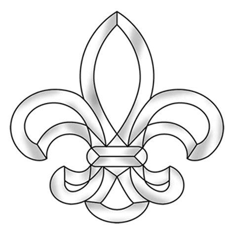 Large Fleur De Lis Bevel Cluster | Traditional Medium ...
