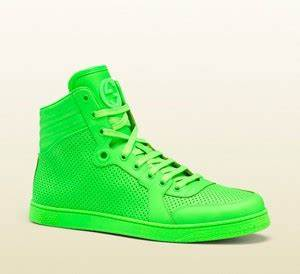 Gucci Neon High Top Sneakers 8