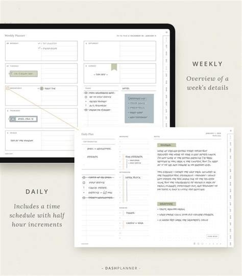 digital planner dated template  goodnotes