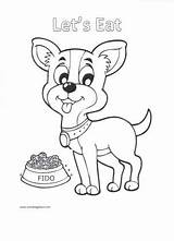 Coloring Pages Puppy Eat Let Go Smalldogplace sketch template