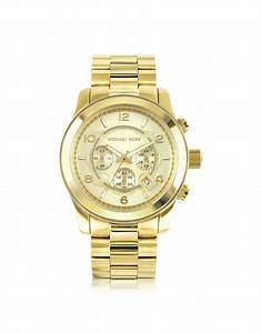Michael Kors Men'S Runway Gold-Tone Stainless Steel ...