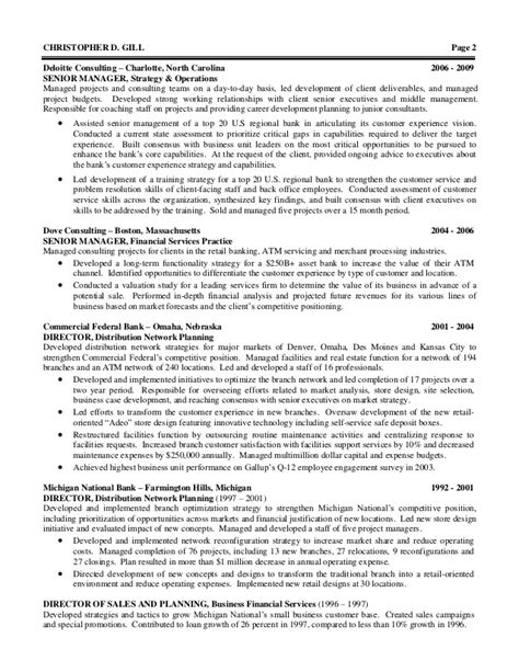 Deloitte Resume Template by Financial Services Consulting Resume