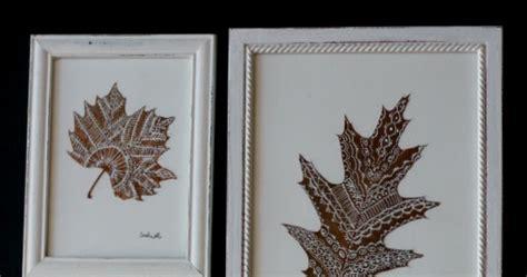 diy cuadro  hojas secas pintadas el nido de mama gallina