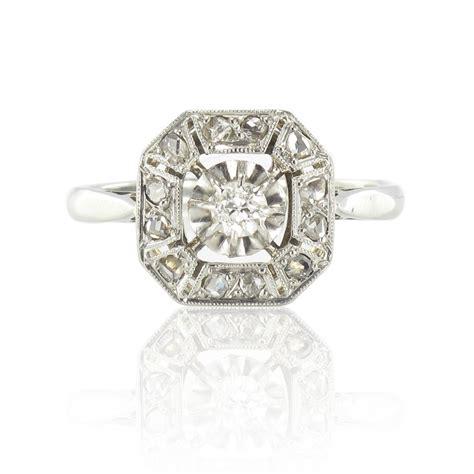 bague ancienne d 233 co diamants bijou d 233 co