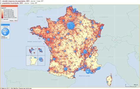 Carte Densité Population 2017 by Histoire G 233 Ographie Lmc Versailles F Huard