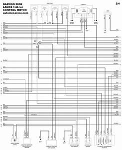 Daewoo 2000 - Diagramas Control Del Motor - Graphics - Esquemas