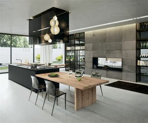plan de travail cuisine inox pas cher la cuisine équipée avec ilot central 66 idées en photos