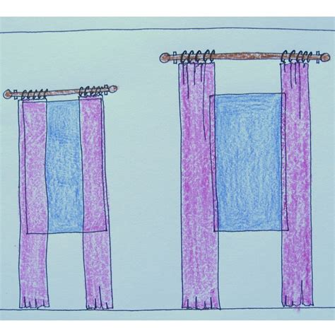 the right and wrong way to hang window drapery panels