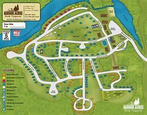 Campground Map Hidden Acres Campground Campsites