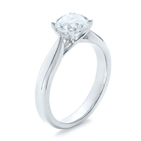 contemporary channel set diamond engagement ring 100405
