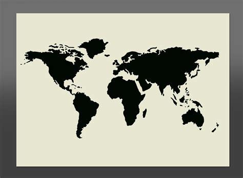 pochoir carte du monde carte du monde
