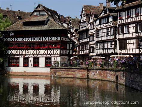 photo houses in petite france area in strasbourg in
