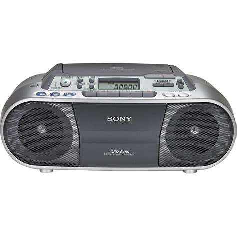 cd cassette recorder sony cfd s01 cd radio cassette recorder cfds01silver b h photo