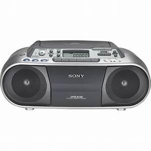Radio Cd Kassette : sony cfd s01 cd radio cassette recorder cfds01silver b h photo ~ Jslefanu.com Haus und Dekorationen