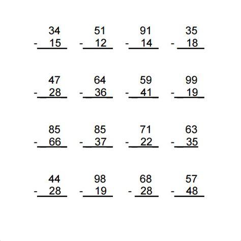 13 sle vertical subtraction worksheets sle templates