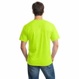 Gildan 5000 Heavy Cotton T Shirt Safety Green