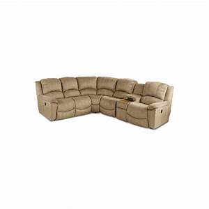 Stone microfiber 6 piece reclining sectional for 6 piece microfiber sectional sofa